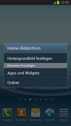 Samsung Galaxy S III - Startanleitung - Installieren von Widgets und Apps auf der Startseite - Schritt 3