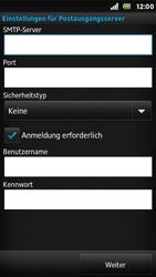 Sony Xperia U - E-Mail - Konto einrichten - Schritt 12