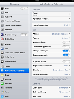 Apple iPad mini - E-mail - Configuration manuelle - Étape 4