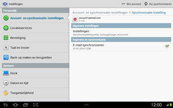 Samsung P5100 Galaxy Tab 2 10-1 - E-mail - Instellingen KPNMail controleren - Stap 9