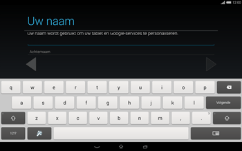 Sony Xperia Tablet Z2 4G (SGP521) - Applicaties - Account aanmaken - Stap 6