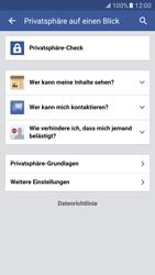 Samsung Galaxy S7 - Datenschutz und Sicherheit - Datenschutzeinstellungen von Facebook ändern - 6 / 35