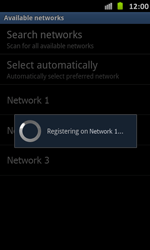 Samsung Galaxy S Advance - Network - Manual network selection - Step 10