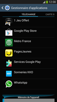 Samsung Galaxy Note III LTE - Applications - Comment désinstaller une application - Étape 6