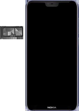 Nokia 6.1 Plus - Android Pie - SIM-Karte - Einlegen - Schritt 3