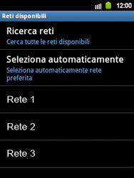 Samsung Galaxy Y - Rete - selezione manuale della rete - Fase 11