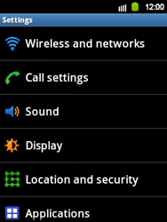 Samsung S5360 Galaxy Y - Voicemail - Manual configuration - Step 4