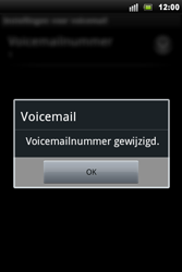 Sony Xperia Mini Pro - Voicemail - Handmatig instellen - Stap 8