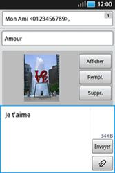 Samsung Galaxy Ace - Contact, Appels, SMS/MMS - Envoyer un MMS - Étape 11