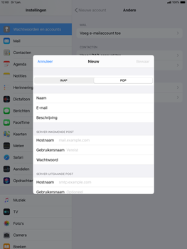 Apple ipad-air-10-5-inch-2019-model-a2123-ipados-13 - E-mail - Account instellen (IMAP zonder SMTP-verificatie) - Stap 10