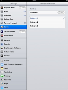 Apple iPad Retina - Network - Manual network selection - Step 9