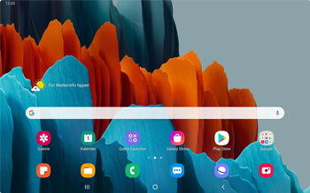 Samsung Galaxy Tab S7 - Apps - Einrichten des App Stores - Schritt 1