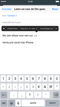 Apple iPhone 6 Plus (iOS 9) - e-mail - hoe te versturen - stap 10