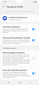 Samsung Galaxy A20e - Appareil - configurer Localiser mon appareil - Étape 9