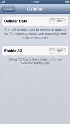 Apple iPhone 5 - Internet and data roaming - Manual configuration - Step 5