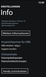 Nokia Lumia 800 / Lumia 900 - Gerät - Zurücksetzen auf die Werkseinstellungen - Schritt 6