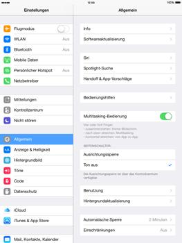 Apple iPad mini - iOS 8 - Internet und Datenroaming - Deaktivieren von Datenroaming - Schritt 3