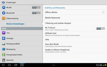 Samsung Galaxy Note 10-1 - Internet - Apn-Einstellungen - 5 / 22