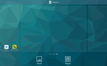Samsung T805 Galaxy Tab S - Operazioni iniziali - Installazione di widget e applicazioni nella schermata iniziale - Fase 4
