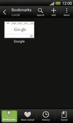 HTC T320e One V - Internet - Internet browsing - Step 8