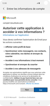 Samsung Galaxy S10 - E-mail - 032c. Email wizard - Outlook - Étape 9