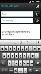 Sony ST25i Xperia U - E-mail - e-mail versturen - Stap 4