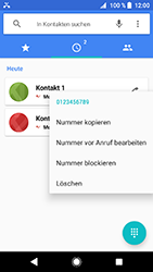 Sony Xperia XZ1 Compact - Anrufe - Anrufe blockieren - Schritt 5