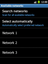 Samsung Galaxy Pocket - Network - Manual network selection - Step 9