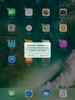 Apple iPad Mini 3 iOS 10 - iOS features - Supprimer et restaurer les applications iOS par défaut - Étape 4