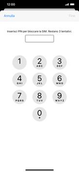 Apple iPhone XS Max - iOS 13 - Operazioni iniziali - Come abilitare il pin della SIM - Fase 6