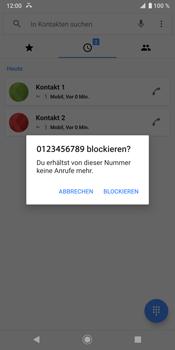 Sony Xperia XZ3 - Anrufe - Anrufe blockieren - Schritt 6