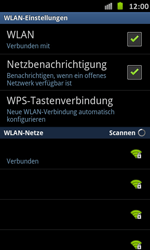 Samsung Galaxy S Advance - WiFi - WiFi-Konfiguration - Schritt 9