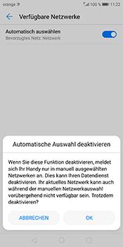 Huawei Mate 10 Pro - Netzwerk - Manuelle Netzwerkwahl - Schritt 9