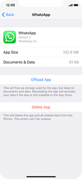 Apple iPhone X - Applications - How to uninstall an app - Step 6