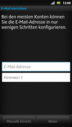 Sony Xperia Sola - E-Mail - Konto einrichten - Schritt 5