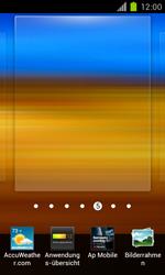 Samsung Galaxy S II - Startanleitung - Installieren von Widgets und Apps auf der Startseite - Schritt 4