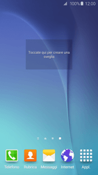 Samsung Galaxy S6 Edge - Operazioni iniziali - Installazione di widget e applicazioni nella schermata iniziale - Fase 7