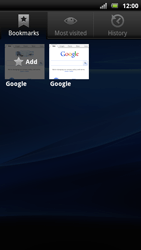 Sony Xperia Arc S - Internet - Internet browsing - Step 7