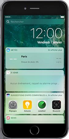 Apple iPad mini 4 iOS 10 - iOS features - Liste des nouvelles fonctions - Étape 3