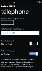 Nokia Lumia 800 - Messagerie vocale - Configuration manuelle - Étape 6