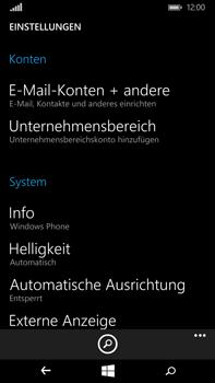 Microsoft Lumia 640 XL - E-Mail - Konto einrichten - 0 / 0