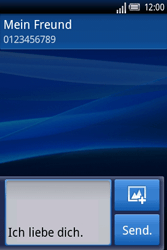 Sony Ericsson Xperia X8 - MMS - Erstellen und senden - Schritt 10