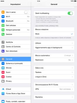 Apple iPad mini iOS 8 - Dispositivo - ripristino delle impostazioni originali - Fase 5