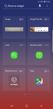 Samsung Galaxy Note9 - Operazioni iniziali - Installazione di widget e applicazioni nella schermata iniziale - Fase 4