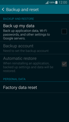 Samsung G850F Galaxy Alpha - Mobile phone - Resetting to factory settings - Step 5