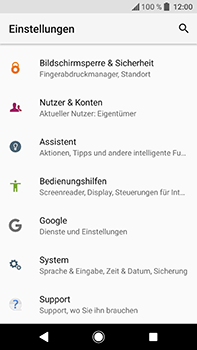 Sony Xperia XA2 Ultra - Fehlerbehebung - Handy zurücksetzen - 6 / 12