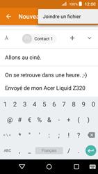 Acer Liquid Z320 - E-mail - envoi d
