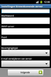 Samsung S5830i Galaxy Ace i - E-mail - e-mail instellen: IMAP (aanbevolen) - Stap 9