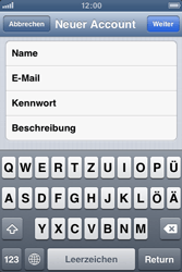 Apple iPhone 3GS - E-Mail - Manuelle Konfiguration - Schritt 8