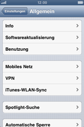 Apple iPhone 3GS - Internet und Datenroaming - Deaktivieren von Datenroaming - Schritt 4